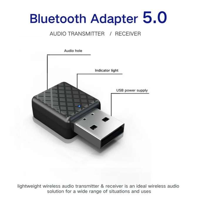Mini Transmisor Receptor Bluetooth 5.0