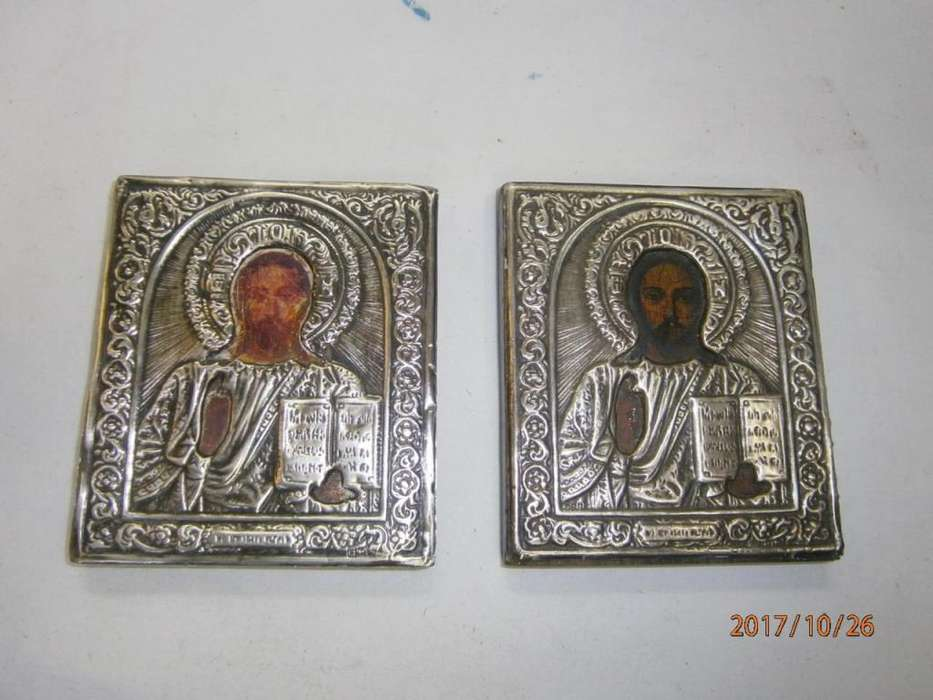ICONOS JESÚS CON LAS <strong>tablas</strong> PLATA 0925. PRECIO X C/U