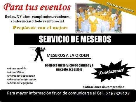 servicios de mesero