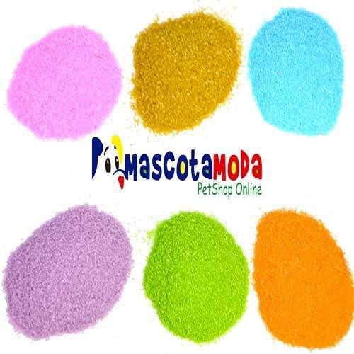 Arena de colores importada para acuarios peceras y decoraciones