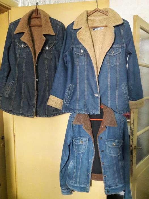 Lote de Camperas de Jeans Corderito