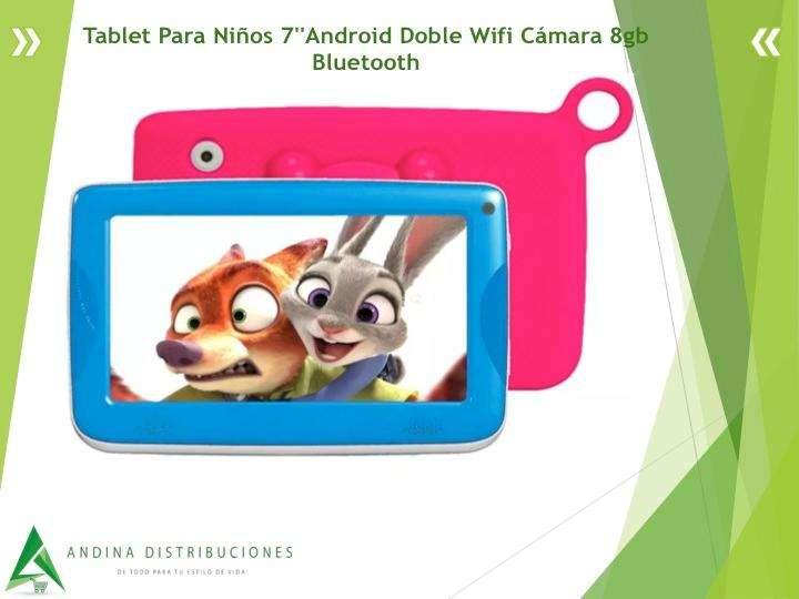 Tablet Para Niños 7''Android Doble Wifi Cámara 8gb <strong>bluetooth</strong>