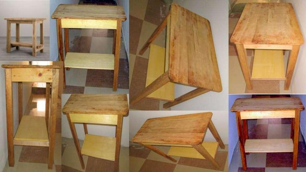 Vendo Mesa auxiliar en madera para cocina/multiusos!