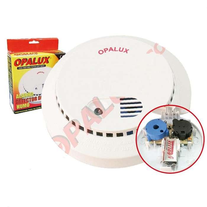 Detector De Humo Con Alarma 9v Opalux Lx-98