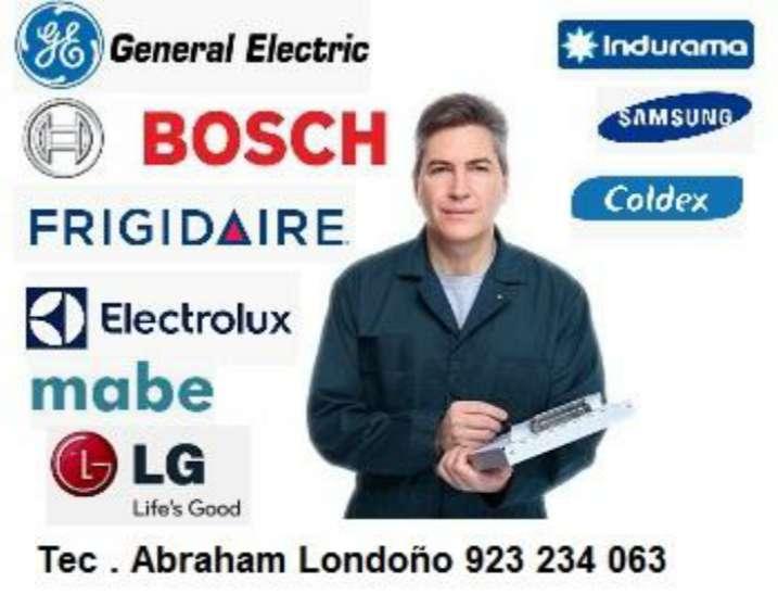 Servicio Técnico Refrigeradora Lavadora Secadora Tv Aire Acondicionado Microondas y Más!