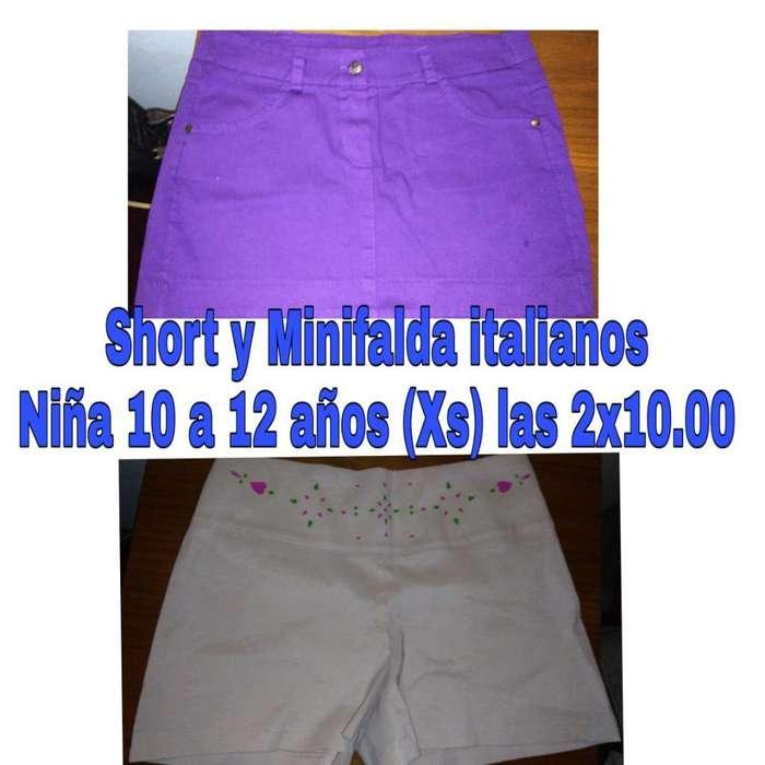 3e66990f86 Short Y Falda Niña 10a12 Años Las2x10