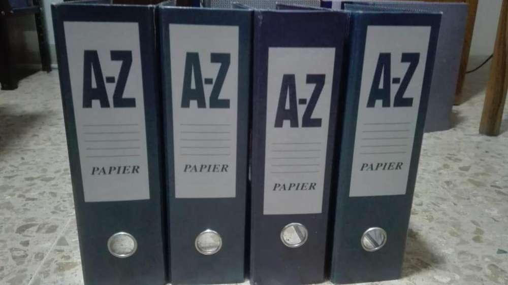 Legajadores A-Z tamaño carta