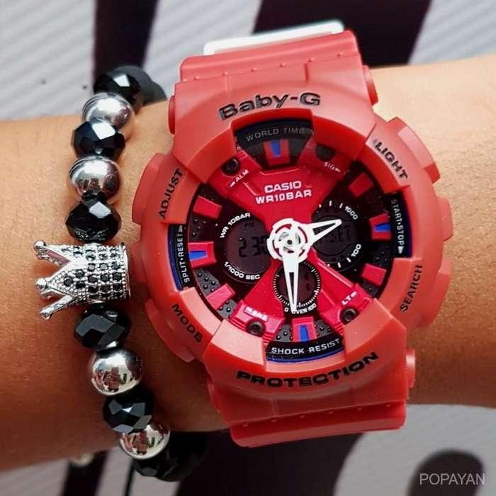 r) Casio rojo Baby-G 90 mujeres