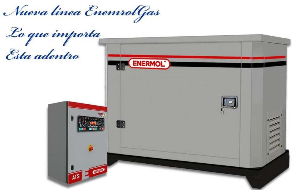 Grupos Electrógenos a Gas EnermolGas 6 hasta 40 kva Enermol. com.ar