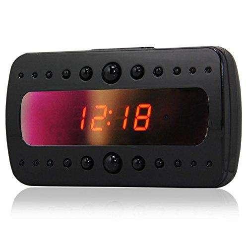 V26 Camara Reloj Despertador Alarma Espía V.Nocturna S.Movimiento 25Hr FHD 1080p