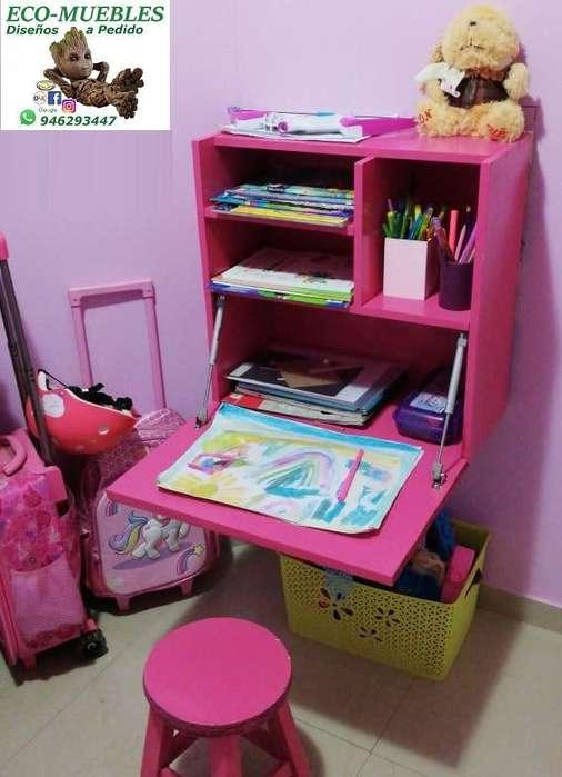 <strong>escritorio</strong> con Estantería Abatible. Envío, Instal. Incluidos