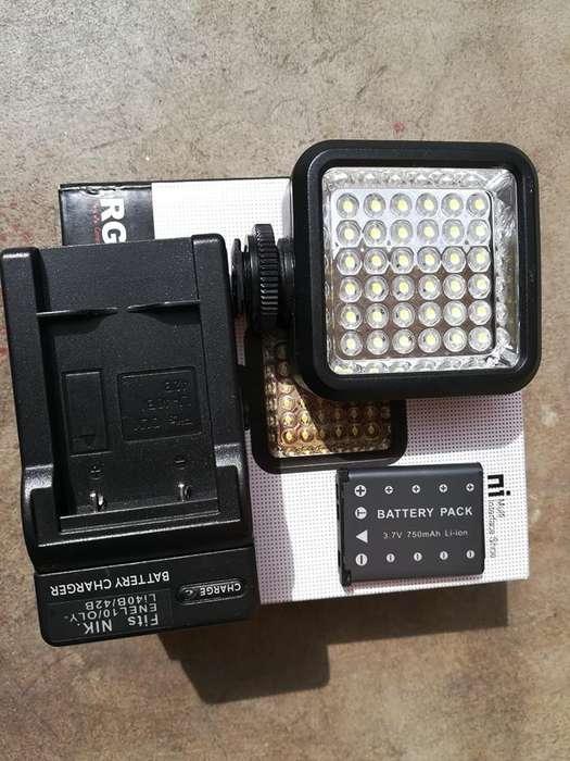 LAMPARA LED PARA CAMARAs DSLRpara grabar video