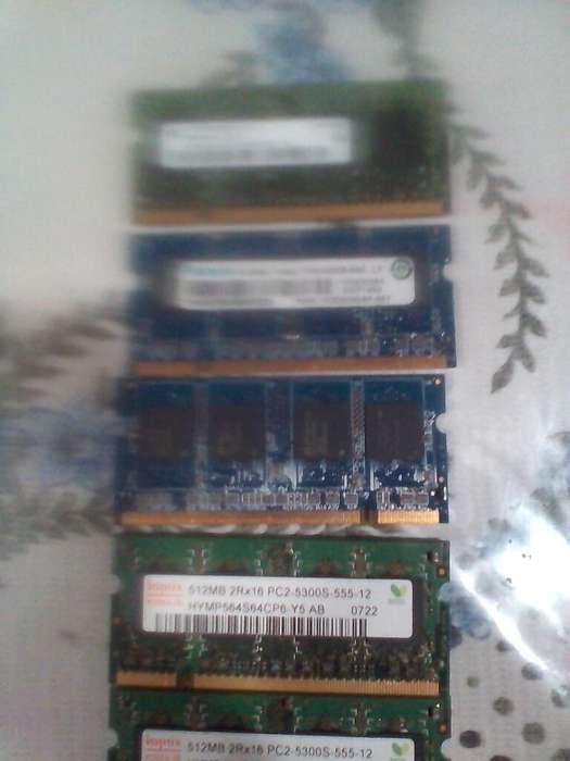 Vendo 5 memoria para portatil ddr2