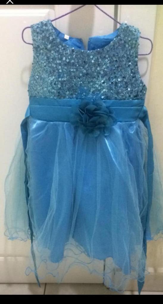 f4faa3e105 Vestido Celeste Frozen Niña Talla 4 Años - Guayaquil