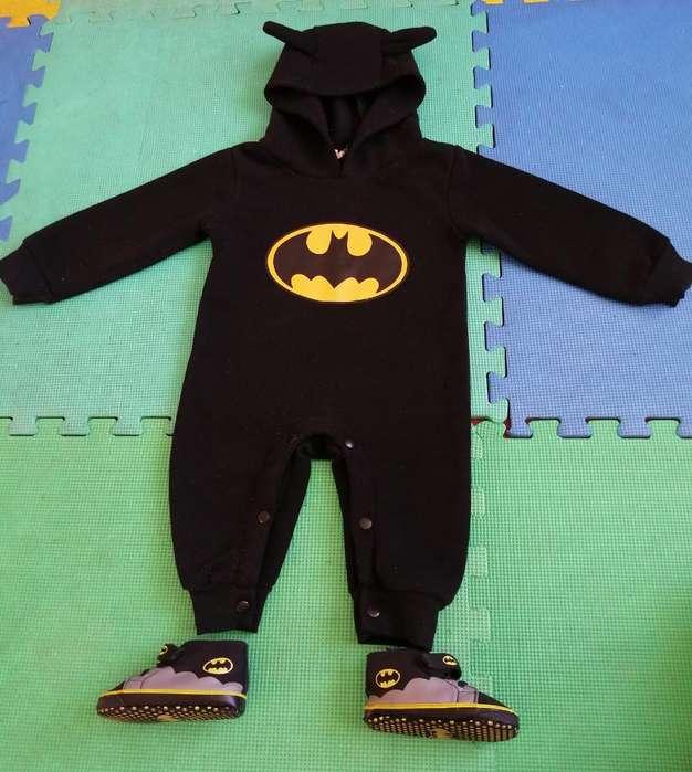 Enterizo Y Zapatos de Batman 12 Meses