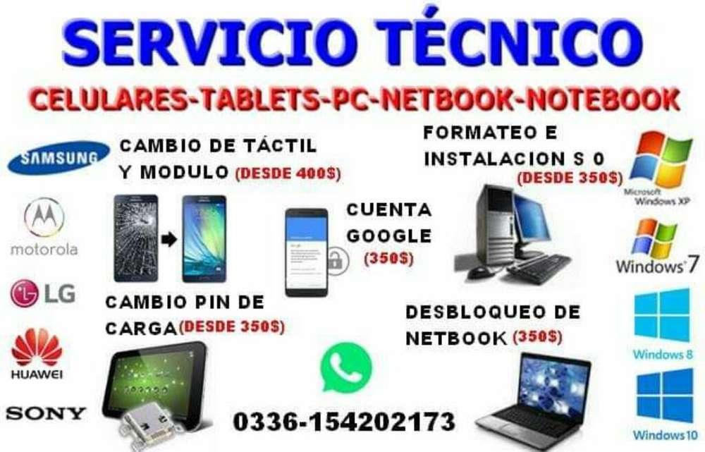Servicio Tecnico Celulares Y Pc