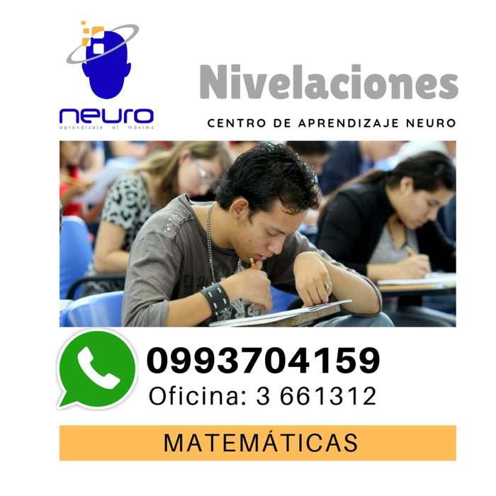 CLASES DE NIVELACIÓN ACADÉMICA -MATEMÁTICAS- FÍSICA - INGLESCENTRO DE APRENDIZAJE NEURO