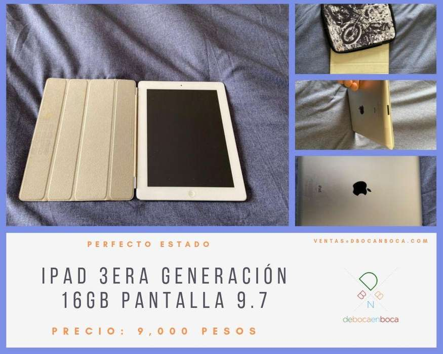 IPAD 3era Generación 16GB pantalla 9.7 – Impecable estado