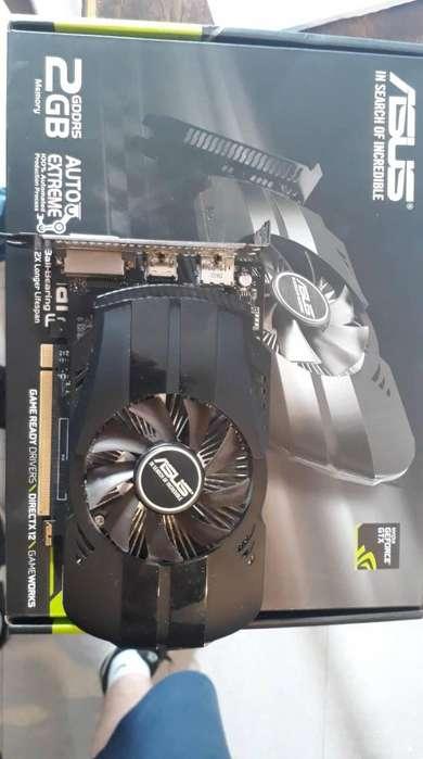 VENDO/PERMUTO Placa de video GTX 1050 2GB Asus