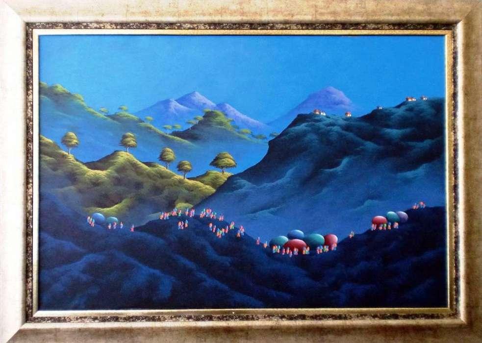 Cuadro Paisaje De Montañas De Gonzalo Endara Crow