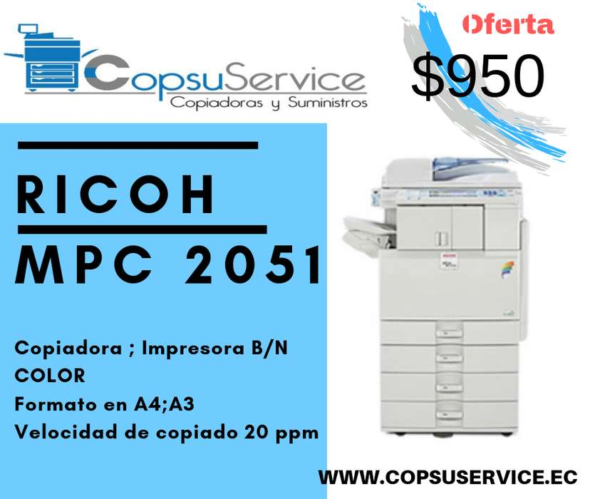 COPIADORA RICOH MPC 2051