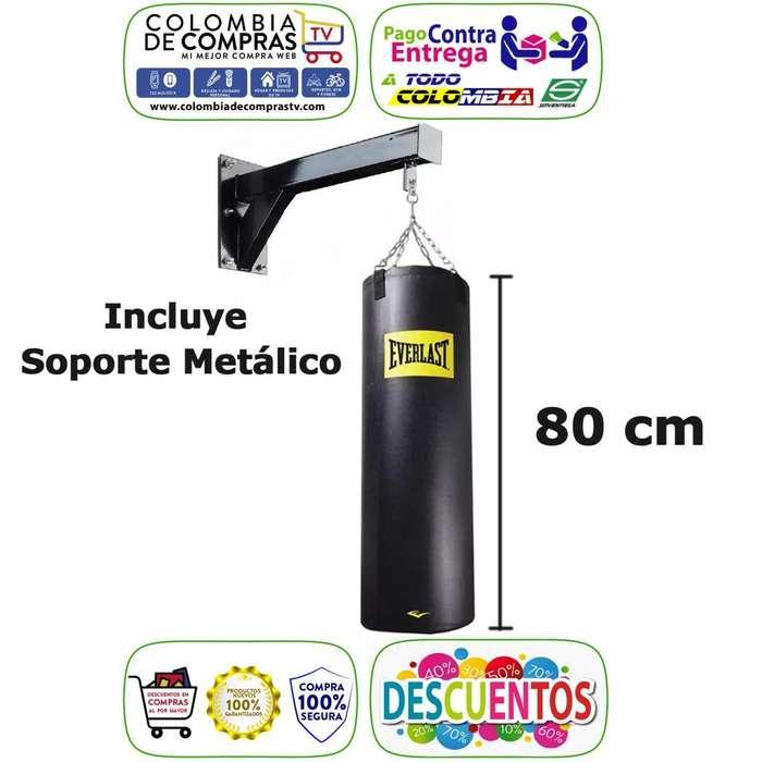 Bolsa Saco Tula de Boxeo 80x45 cm Everlast con Soporte Base Metálica, Nuevos, Originales, Garantizados...