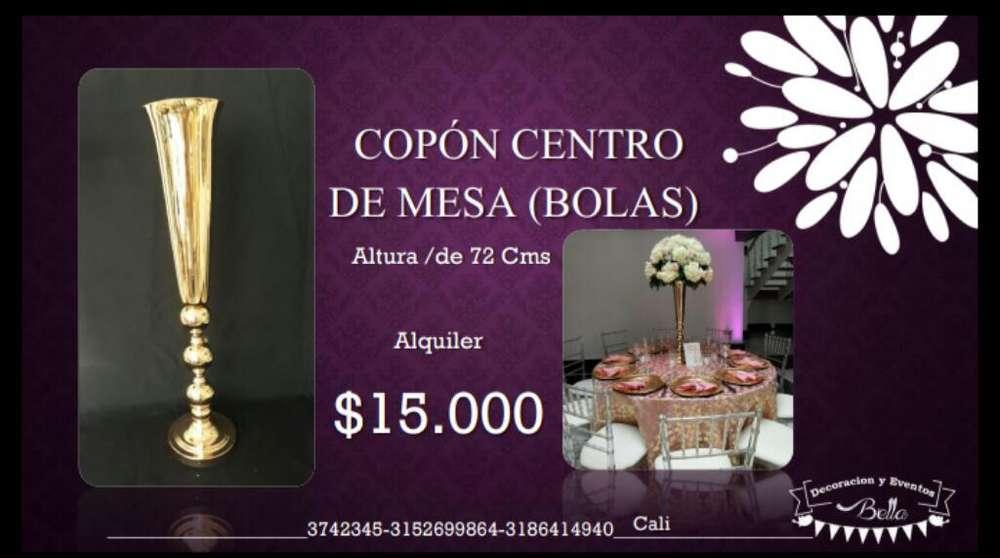 Alquiler de Copon para Centros de Mesa