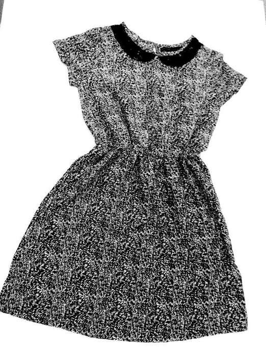 Vestido de Seda Marca <strong>zara</strong>