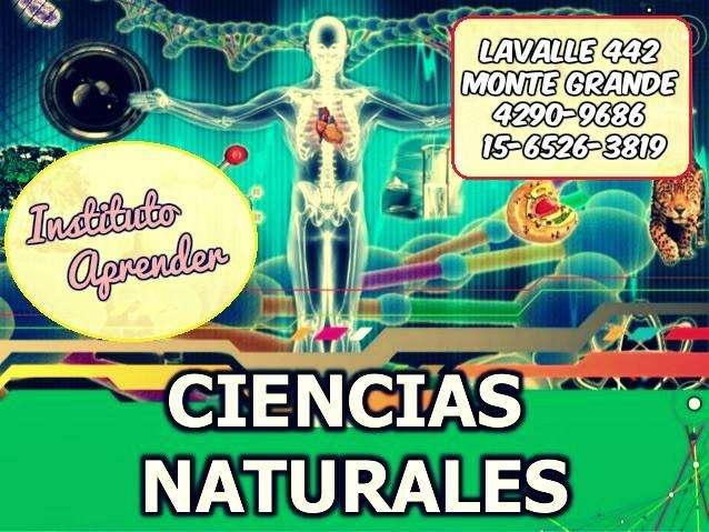 Apoyo de ciencias naturales en Monte Grande