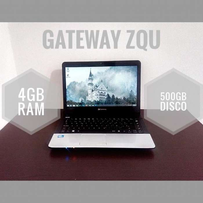 Portátil gateway 500gb dd 4gb ram intel celeron 1.9ghz
