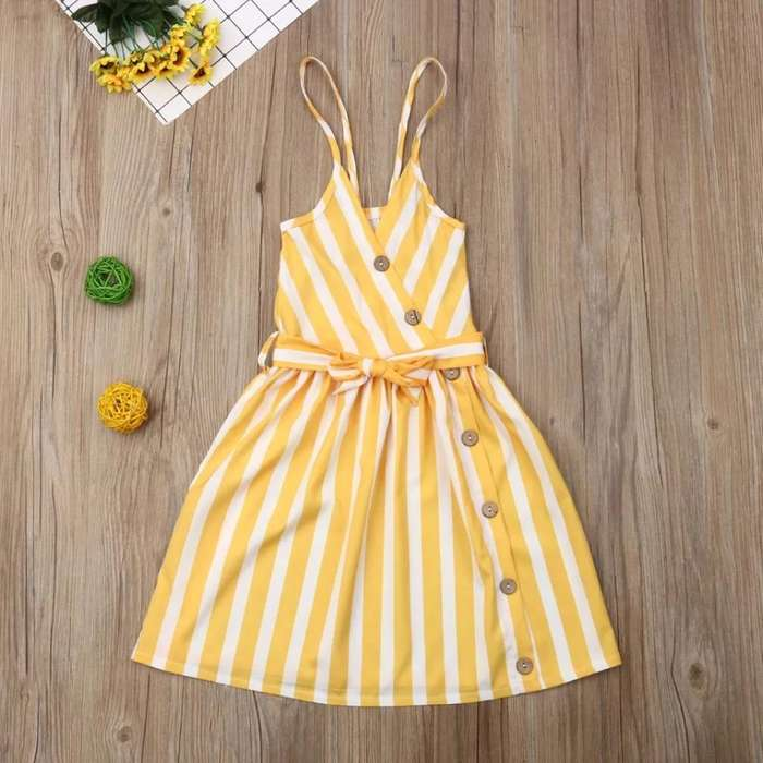Vestido para Niñas Amarillo