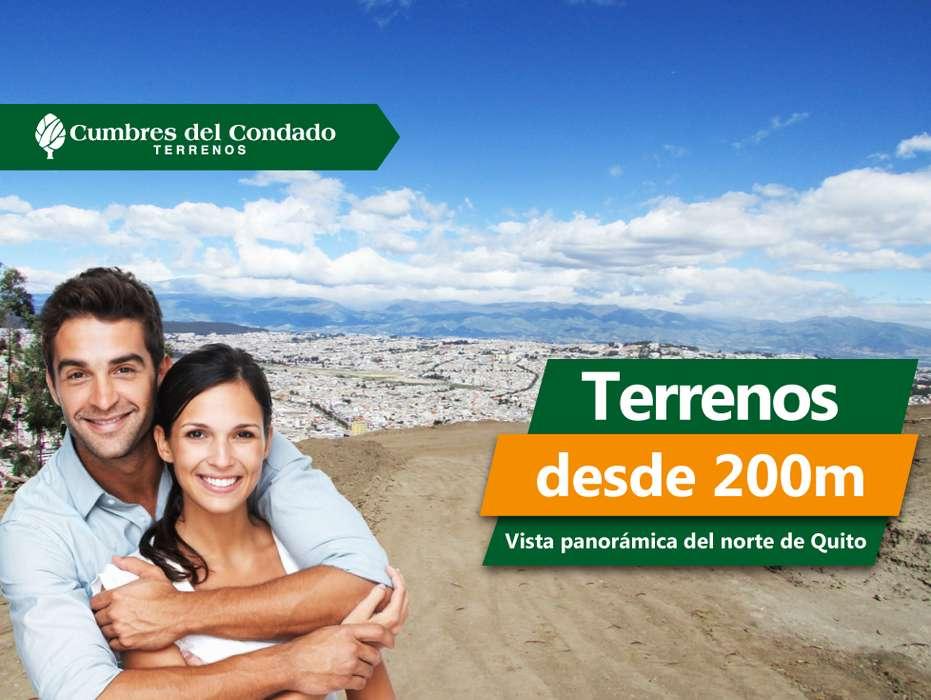 Se vende lote de terreno para construir casa, departamento o local en el norte de Quito