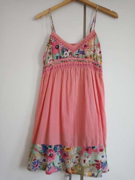 Vestido Coral Floreado Talle M