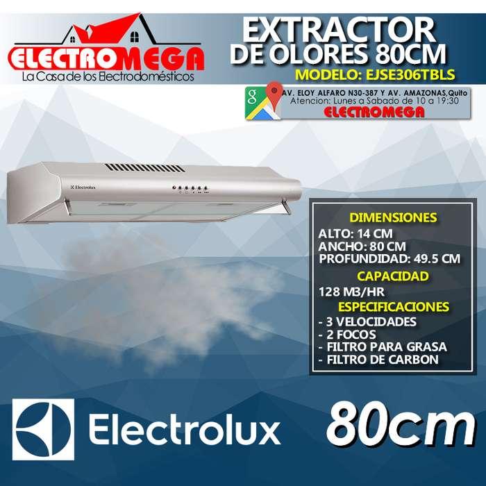 Campana Extractor De Olores De Pared Electrolux 80cm Ejse306