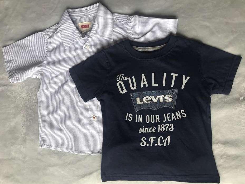 Juego Camisa Y Camiseta Niño Levis 2T