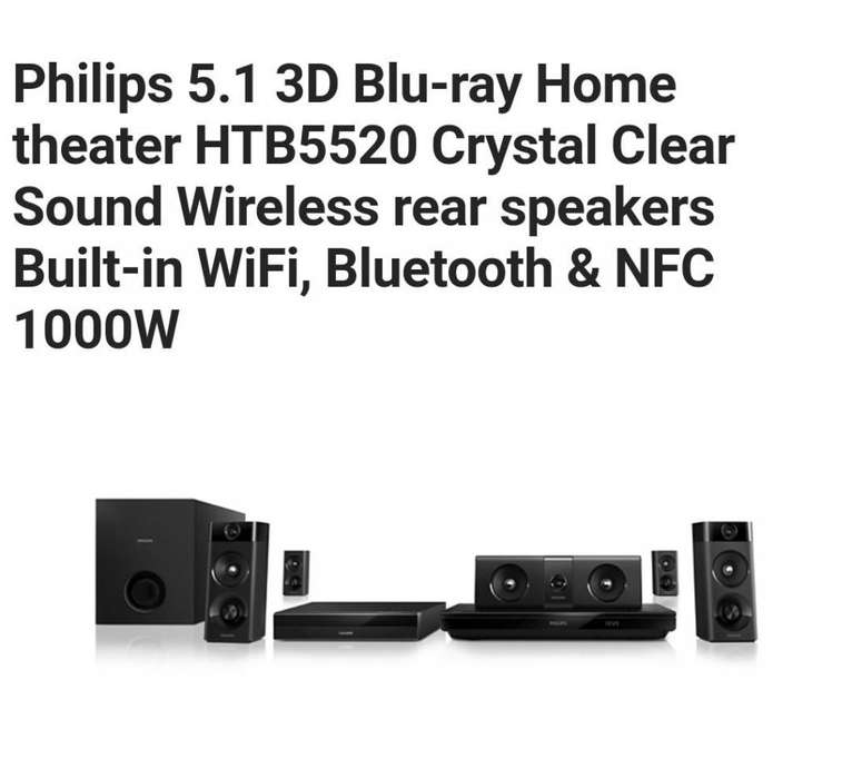Philips 5.1 3D Blu-ray Home theater WiFi, Bluetooth & NFC 1000W