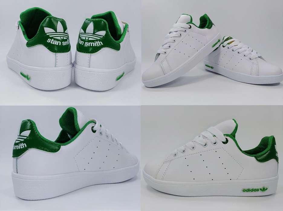 Tenis Adidas StanSmith Blanco Verde