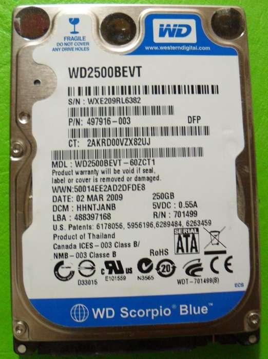 DISCO NOTEBOOK WD SCORPIO BLUE 250GB WD2500BEVT