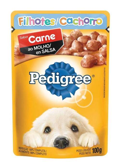 Pedigree Cachorro Carne en salsa - 100gr/6 unidades