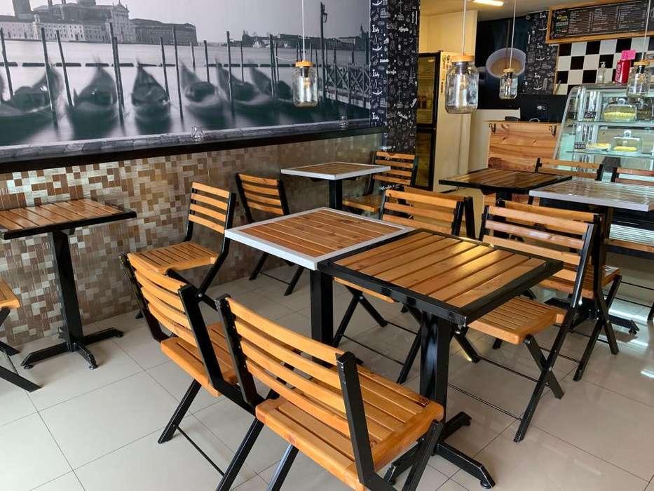 Mesas y <strong>sillas</strong> para negocio