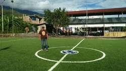 GRASS ARTIFICIAL REGALAMO MALLAS O ARCOS A PRECIOS INSUPERABLES EN CORPORACION GRASS SUPERT SPORT