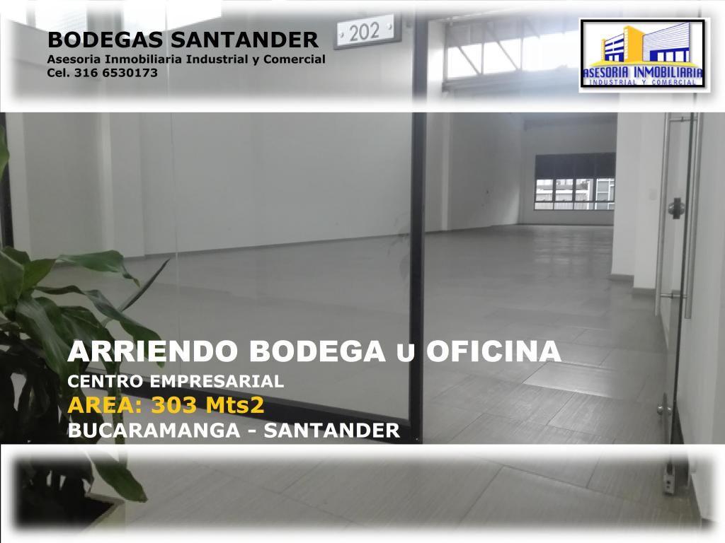 ARRIENDO BODEGA U OFICINAS BUCARAMANGA 303 Mts2