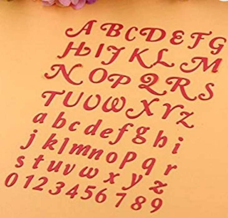 Plantilla de Metal-alfabeto