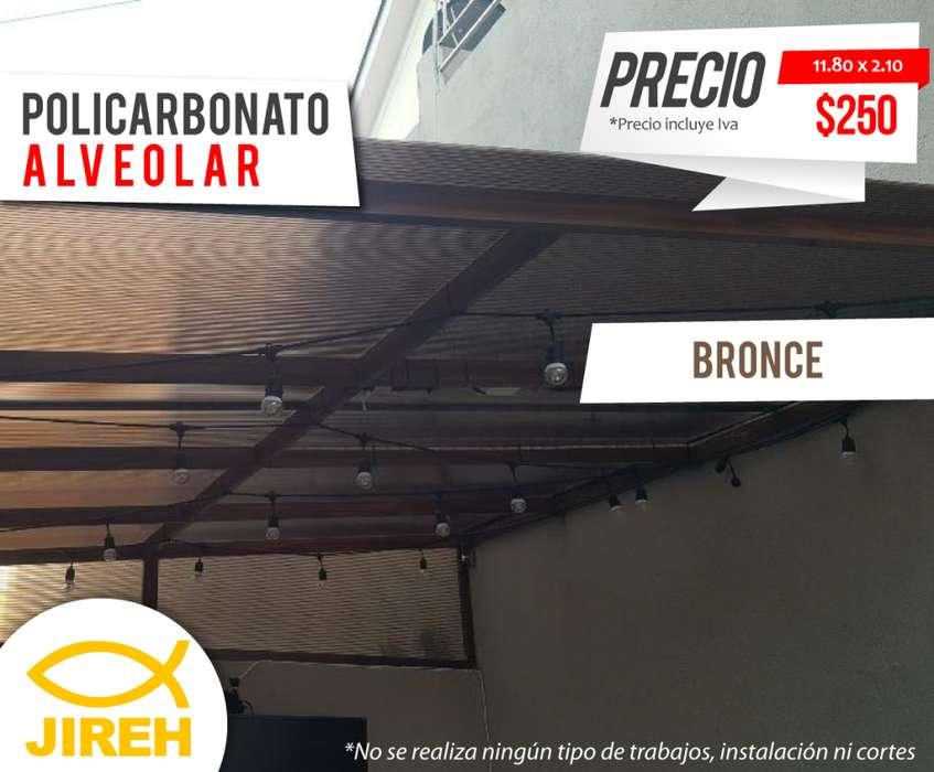 Policarbonato Jireh 8mm en Quito de 11.80 x 2.10mts, Techos, Alucobond, Acrílico, Cielo raso PVC
