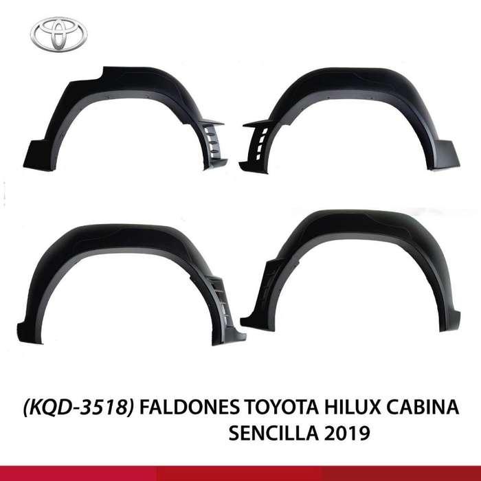 FALDONES PARA TOYOTA HILUX CABINA SENCILLA 2019