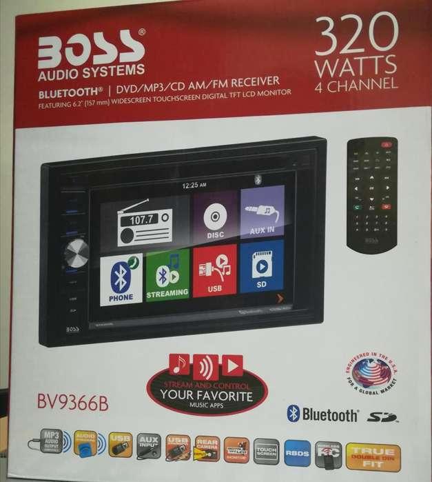 Radio Pantalla Táctil Boss cámara retro Touch Bluetooth USB SD Autos Carros