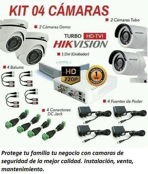 Camaras de Seguridad CCTV Y App. Instalación. Monitoreo constante.