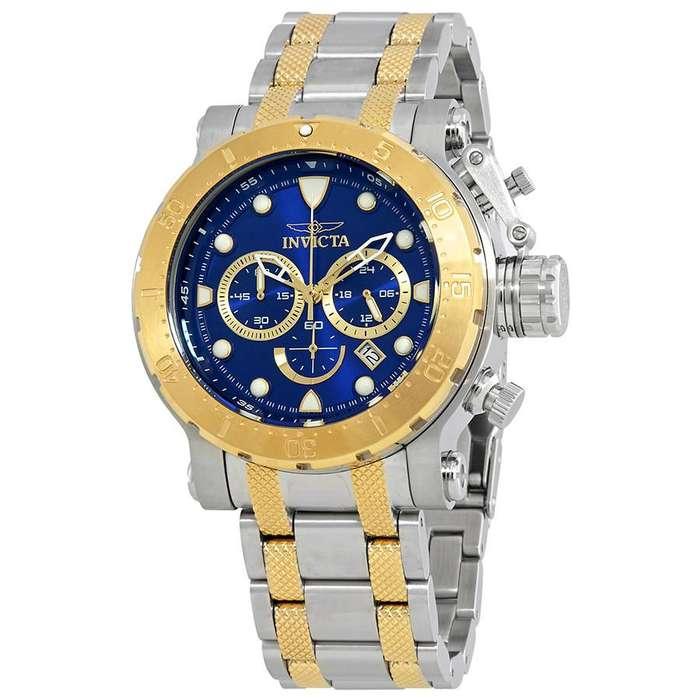 Reloj Hombre Invicta Coalition Forces Crono Dial Azul 26498