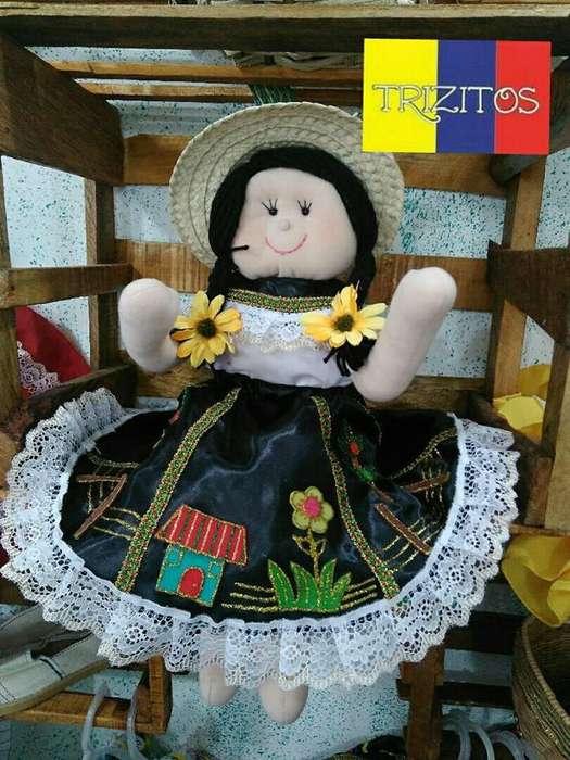 Muñecas de Trapo Chapoleras Y Campesinas