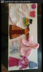 Muñecas Barbies Y Corazón en La Mejilla